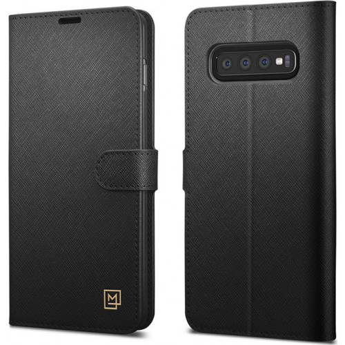 Spigen La Manon Wallet Saffiano Samsung Galaxy S10 G970 Case Black 605CS25819