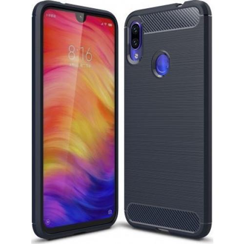 Θήκη OEM Brushed Carbon Case Flexible TPU για Xiaomi Redmi Note 7 blue