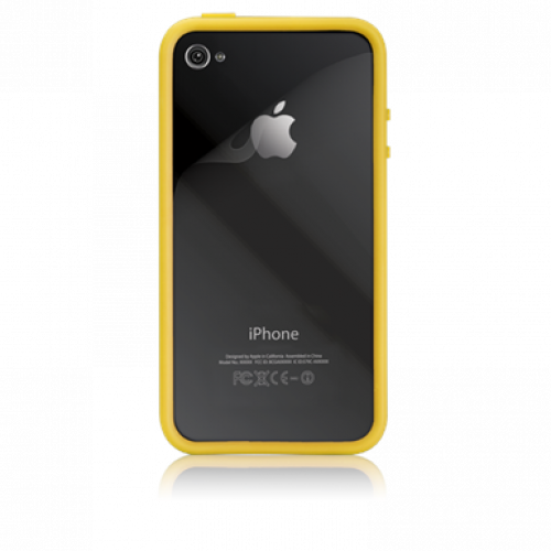 Case-Mate Apple iPhone 4 Hula Case Yellow + Screen Protector (Bumper)