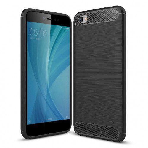 Θήκη OEM Brushed Carbon Flexible Cover TPU για Xiaomi Redmi Note 5A μαύρου χρώματος