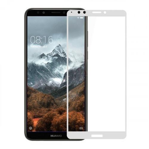 Tempered Glass Full Glue Full Coveraged 5D for Huawei Y7 PRIME 2018 white ( full face )