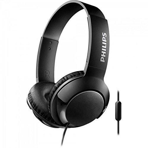 Philips Bass+ SHL3075BK/0 Closed-Back Headphones with Mic (Black)