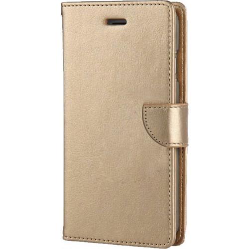Θήκη OEM Wallet για Lenovo A7010 ( stand ,θήκες για κάρτες,χρήματα) χρυσού χρώματος