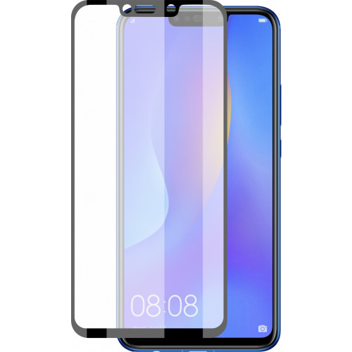 Tempered Glass Full Glue Full Coveraged with Frame Case Friendly for Huawei P Smart Plus black