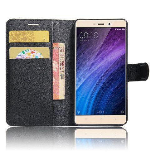 Θήκη OEM Wallet για Xiaomi Redmi Note 4 ( stand ,θήκες για κάρτες,χρήματα) μαύρου χρώματος
