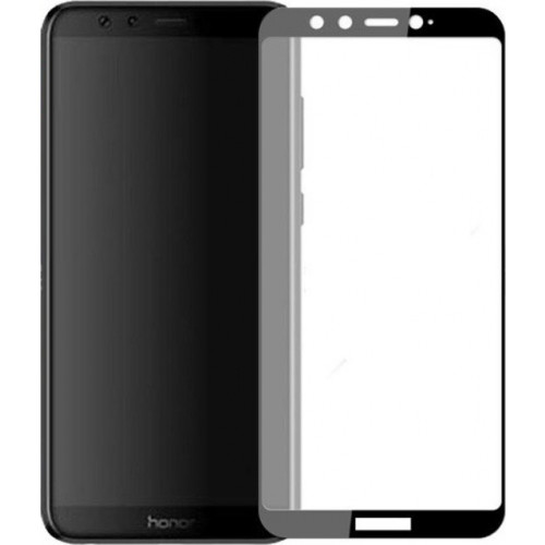 Φιλμ Προστασίας Οθόνης Tempered Glass (άθραυστο ) 9H για Huawei Honor 9 Lite full face black