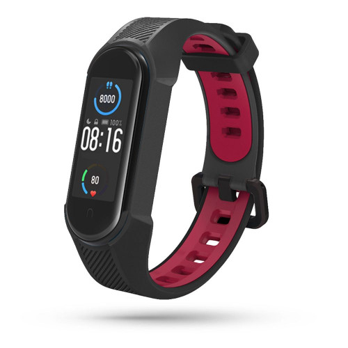 TECH-PROTECT ARMOUR XIAOMI MI SMART BAND 5 / 6 / 6 NFC BLACK/RED