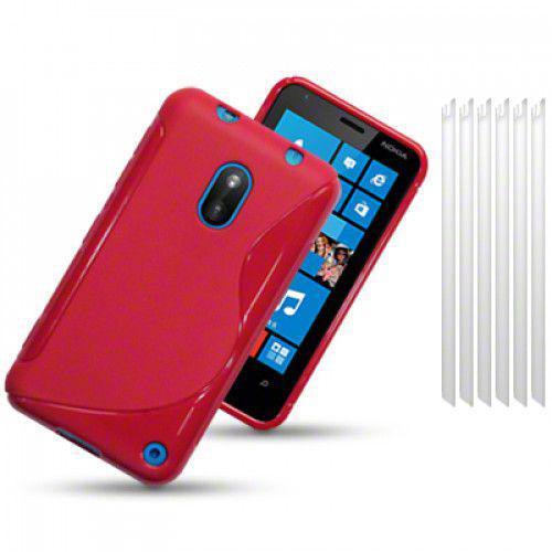 Θήκη Σιλικόνης για Nokia Lumia 620 solid red