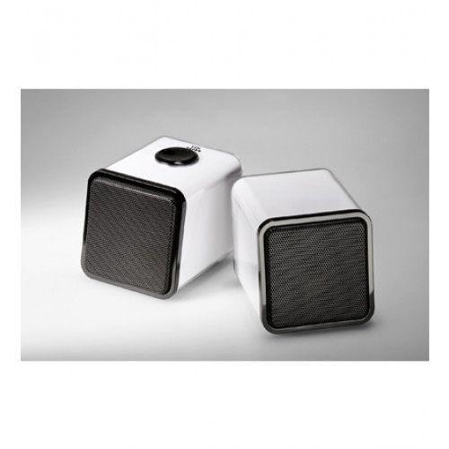 Cabstone SoundTwins 2.0 stereo speaker system for PC/MAC white