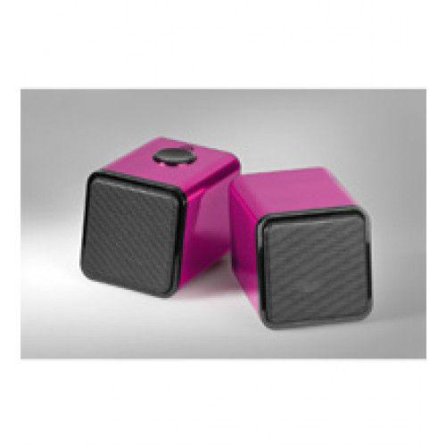 Cabstone SoundTwins 2.0 stereo speaker system for PC/MAC pink