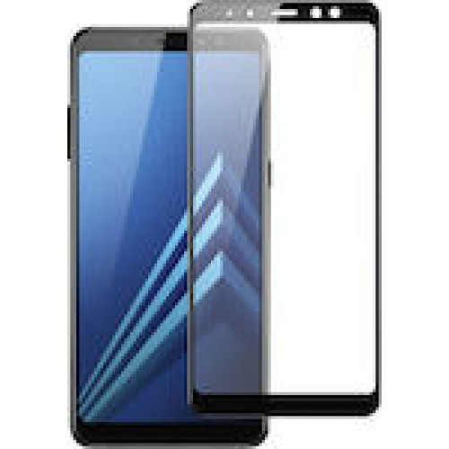 Tempered Glass Screen Protector Πλήρους Κάλυψης για Samsung Galaxy A8 2018 black