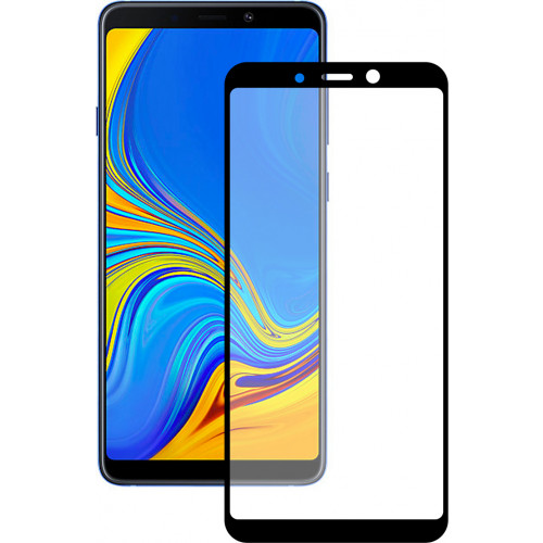 Tempered Glass Full glue 5D πλήρους κάλυψης για Samsung Galaxy A9 2018 black full face