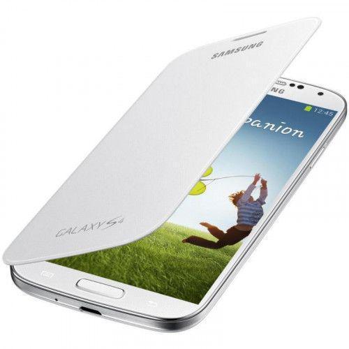 Θήκη Samsung Flip Cover για Samsung Galaxy S4 I9500 in White  EF-FI950BWEG Original