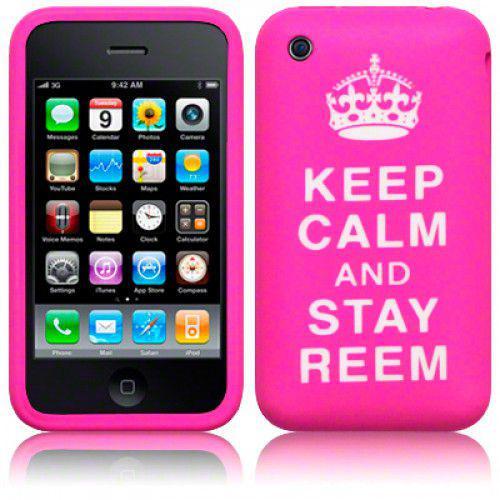 """Θήκη Σιλικόνης για iPhone 3g/3gs """"Keep Calm"""" Pink"""