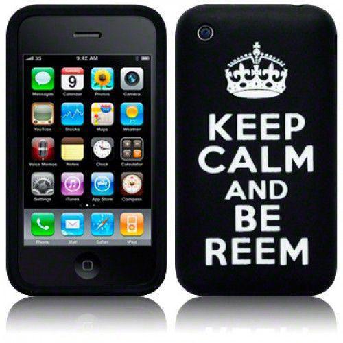 """Θήκη Σιλικόνης για iPhone 3g/3gs """"Keep Calm"""" Black"""