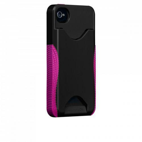 Case-mate Pop ID Cases iPhone 4/4s in Black & Raspberry