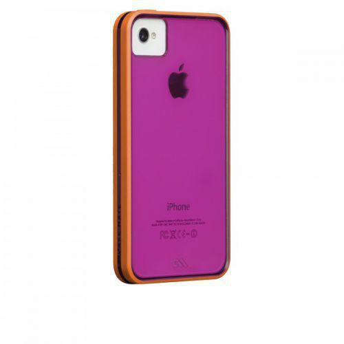 Case-mate Haze Cases for Apple iPhone 4/4s - Raspberry & Tangerine