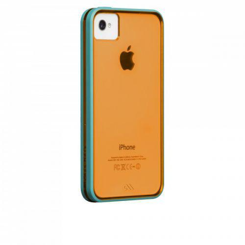 Case-mate Haze Cases for Apple iPhone 4/4s - Orange & Aqua