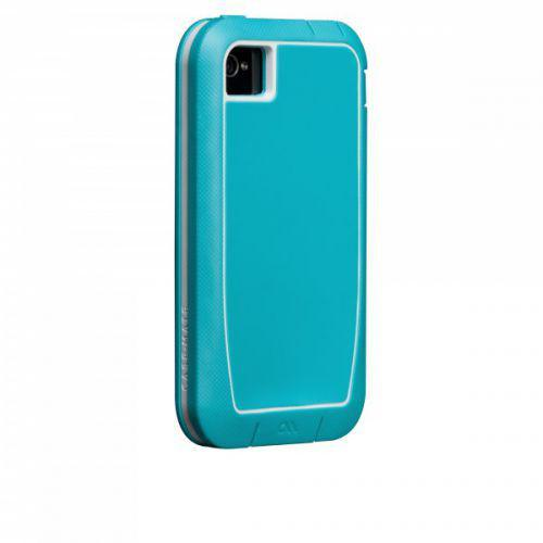 Case-mate Phantom Cases for Apple iPhone 4/4s - Aqua & White + φιλμ προστασίας οθόνης