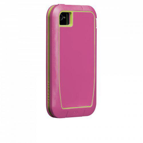 Case-mate Phantom Cases for Apple iPhone 4/4s - Raspberry & Lime + φιλμ προστασίας οθόνης