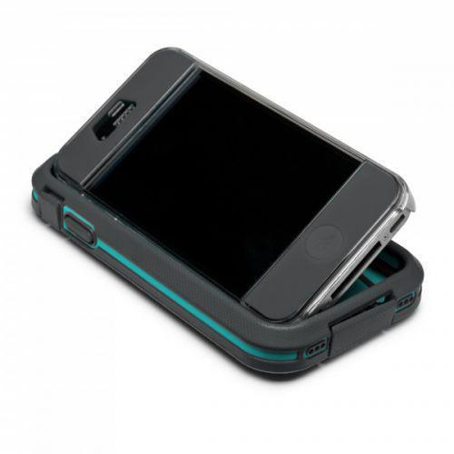 Case-mate Phantom Cases for Apple iPhone 4/4s - Grey & Turquoise + φιλμ προστασίας οθόνης