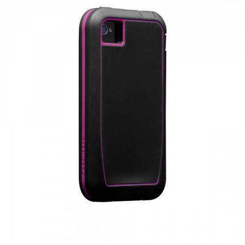 Case-mate Phantom Cases for Apple iPhone 4/4s - Black & Raspberry + φιλμ προστασίας οθόνης