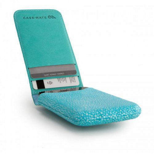 Case-mate Stingray Collection Foldover Pouch for iPhone 4/4S in Turquoise Blue