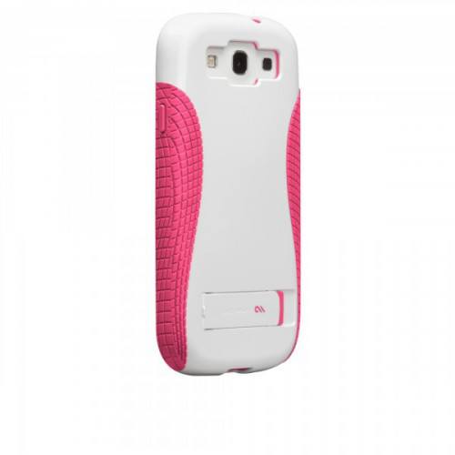 Case-mate Pop Cases for Samsung Galaxy S3 in White & Pink i9300