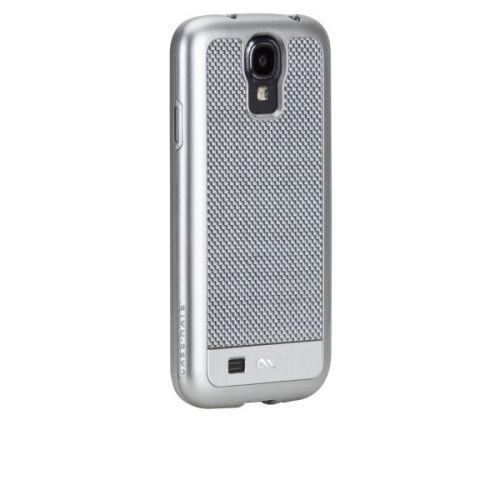 Case-Mate Premium Carbon Fibre Cases for Samsung Galaxy S4 in Silver I9500