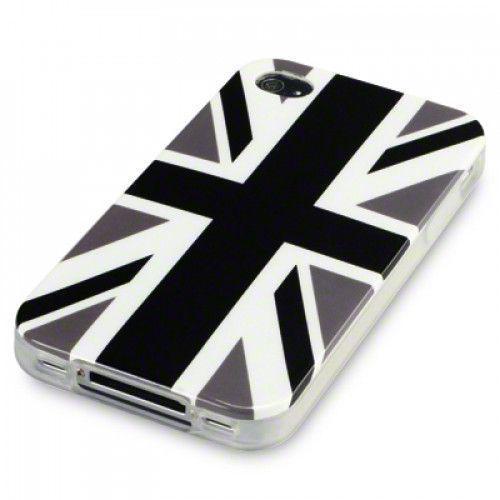 Θήκη Σιλικόνης Cool Brittania black για iphone 4/4s
