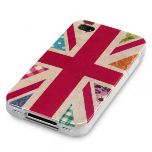 Θήκη Σιλικόνης Cool Brittania Floral Union Jack  για iphone 4/4s