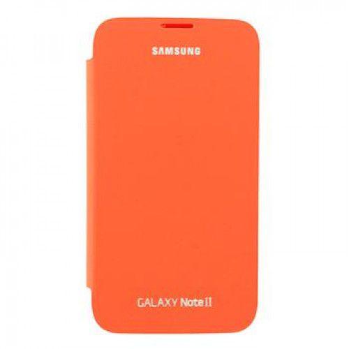 Samsung EFC-1J9FOEGSTD Flip Cover Orange για Samsung Note 2 N7100