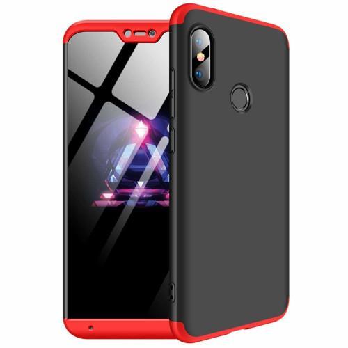 Θήκη OEM 360 Protection front and back full body για Xiaomi Mi A2 Lite black red