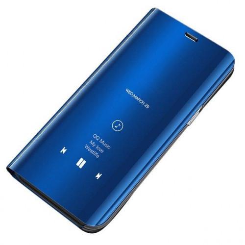 Θήκη OEM Clear View Standing Cover για Samsung Galaxy A7 2018 μπλε χρώματος