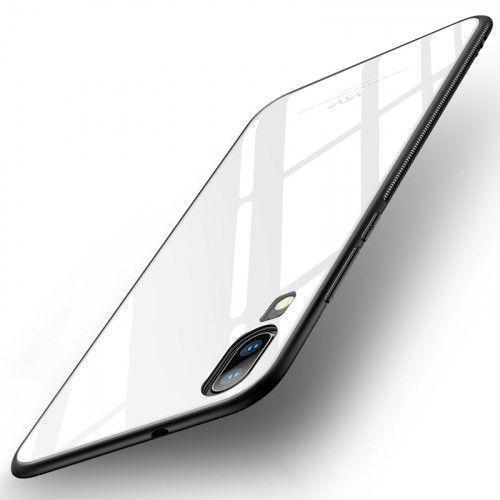 Θήκη MSVII Tempered Glass Case Durable Cover with Tempered Glass Back Huawei P20 Pro white