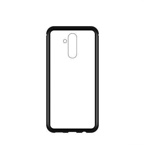 Magnetic Case OEM Full Body Front and Back Cover for Huawei Mate 20 Lite black-transparent