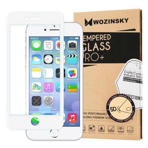 Tempered Glass 5D Super Tough Πλήρους Κάλυψης με λευκό πλαίσιο για iPhone 7