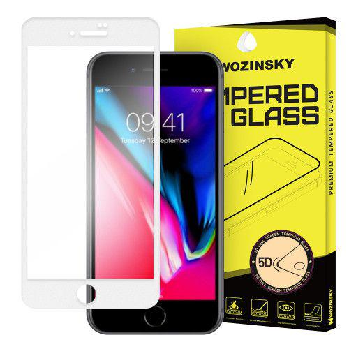 Tempered Glass PRO+ 5D Super Tough Screen Protector Πλήρους Κάλυψης με πλαίσιο για iPhone 8 white