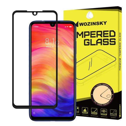 Wozinsky Tempered Glass Full Glue Super Tough Full Coveraged Case Friendly for Xiaomi Redmi Note 7 black