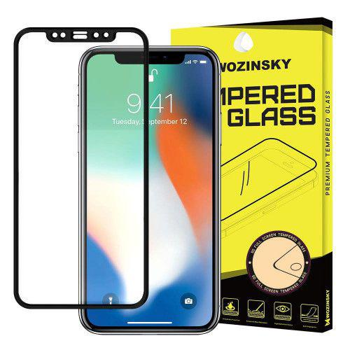 Tempered Glass Full Glue Super Tough Full Coveraged with Frame for  Apple iPhone XS / iPhone X black Case Friendly