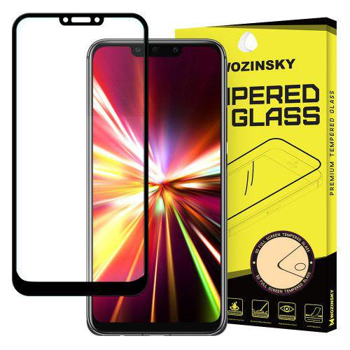 Tempered Glass Full Glue Super Tough Full Coveraged with Frame Case Friendly for Huawei Mate 20 Lite black