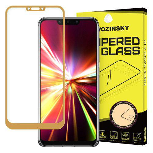 Tempered Glass Full Glue Super Tough Full Coveraged with Frame Case Friendly for Huawei Mate 20 Lite gold