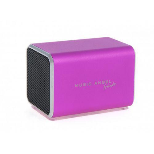 Ηχείο Music Angel Friendz Speaker Pink για iPhone, iPad, iPod, MP3 players, PC / MAC and all digital audio sources with 3.5 mm headphone jack.