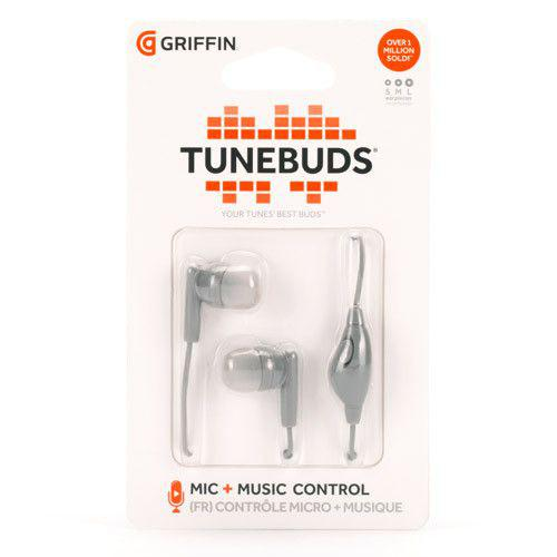 Griffin Tunebuds Earphones with microphone σε γκρι χρώμα