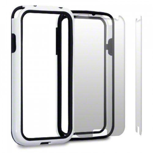 Θήκη για Samsung i9500 Galaxy S4 Bumper Case By Warp - Black/White