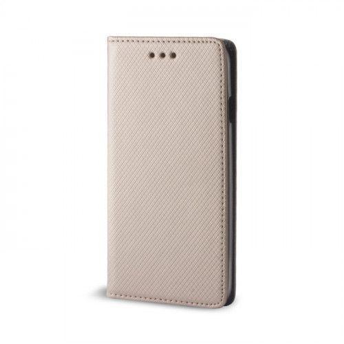 Θήκη OEM Smart Magnet για Huawei P8 Lite 2017 / P9 Lite 2017 χρυσού χρώματος ( θήκη για κάρτα , stand )
