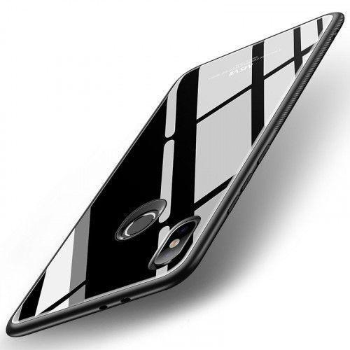 Θήκη MSVII Tempered Glass Case Durable Cover with Tempered Glass Back για Xiaomi Mi A2 / Mi 6X black