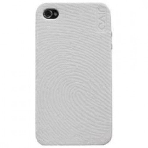 Θήκη Σιλικόνης για iPHONE 4/4S  Jivo Grey + 2 φιλμ προστασίας οθόνης (1x clear+ 1x matte)