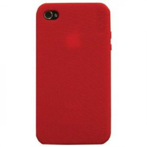 Θήκη Σιλικόνης για iPHONE 4 /4S Jivo Red + 2 φιλμ προστασίας οθόνης (1x clear+ 1x matte)