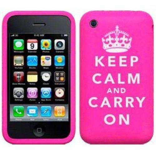 Θήκη Σιλικόνης Keep Calm Pink για iphone 4/4s